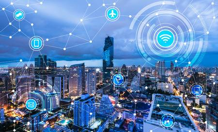 66662157-cityscape-connected-line-technology-concept-internet-of-things-conceptual